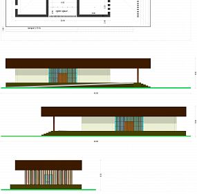 Plan and elevation. RAMMED EARTH CONSTRUCTION (FULL ECOLOGICAL)