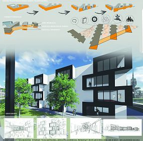 Project of multi dwelling object in the center of Wroclaw (Poland)
