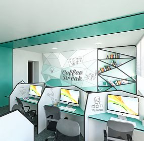 INECOBANK new branch interior design