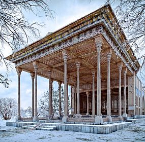 3D Visualization of reconstruction of Ayine Khaneh palace (the Mirror pavilion) of Isfahan