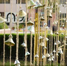 Bamboo Pavillion [ Soothing experience of Bells Hanging on ropes ]