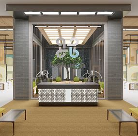 Visualization of the reception area