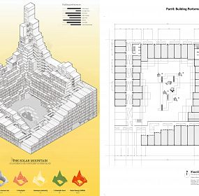 The Solar mountain Isometric and plan
