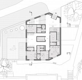 Maternity center Letna . plan I.floor