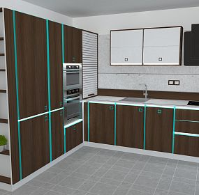 Design of kitchen for purblind people
