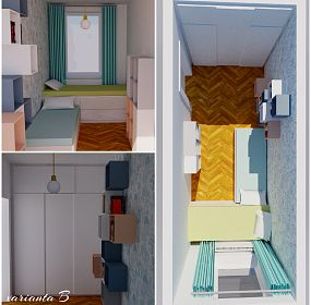 Dětský minipokoj / Children´s small size bedroom 2018