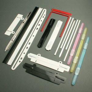 Fastening strips - File prongs