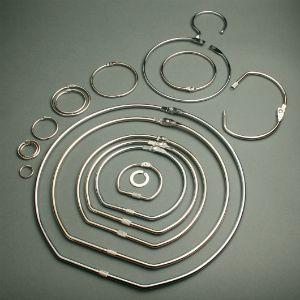 hinged card binding rings