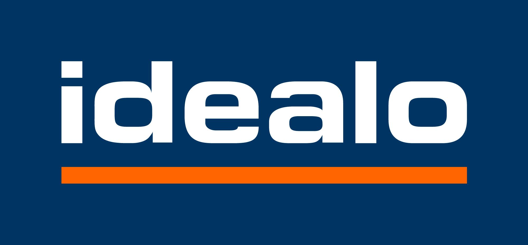 Idealo logo rgb blue white letters 2000x930