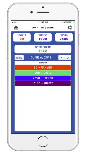 אפליקציה לעבודה בחול - מסך שיחה