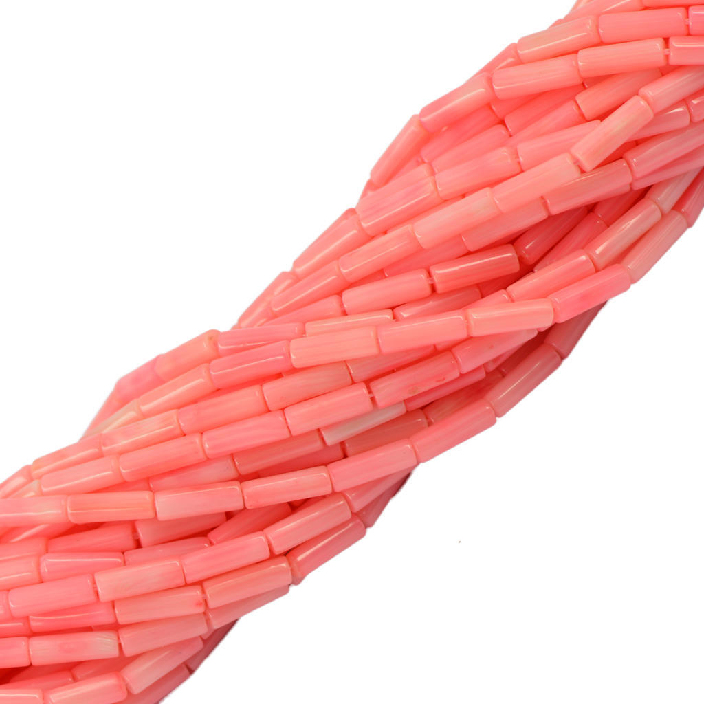 Розовая колонка трубки коралловые распорку Gemstone Loose бусы DIY ювелирное 16» мицелий грибов вешенка розовая 16 древесных палочек