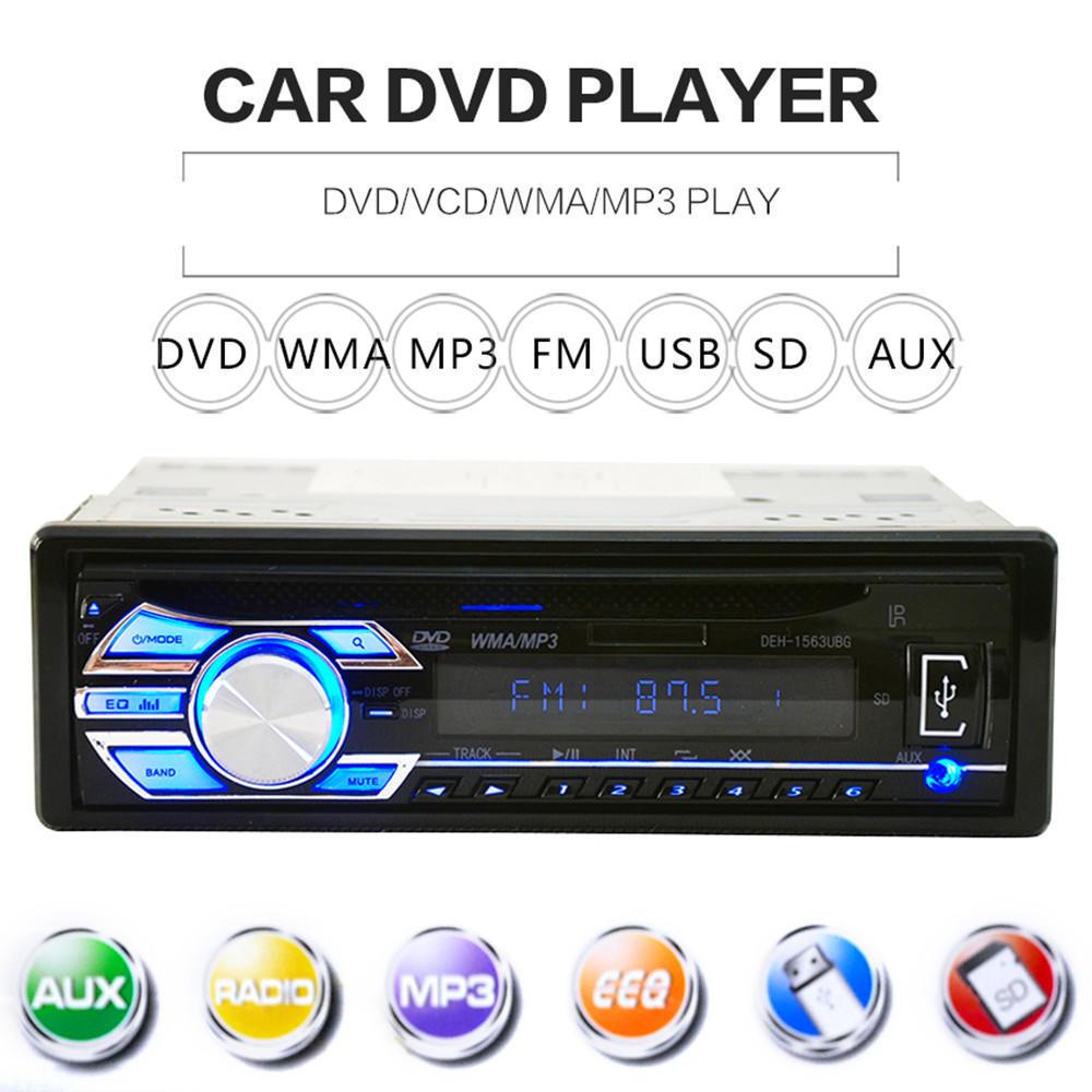 Удаленной CD плеер Mp3 плеер AUX DVD 1563U 12V автомобилей аудио стерео USB SD автомагнитола cd aux cd