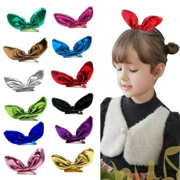 12pcs детей девушки заколки кролик ухо волосы Аксессуары для волос аксессуары для детей