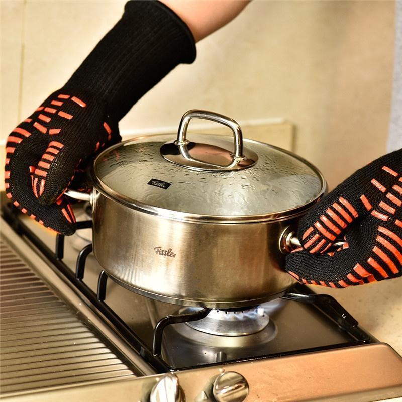 Микроволновая печь барбекю Перчатки защитные перчатки приготовления тепла доказательство Mitt пер... перчатки stella перчатки
