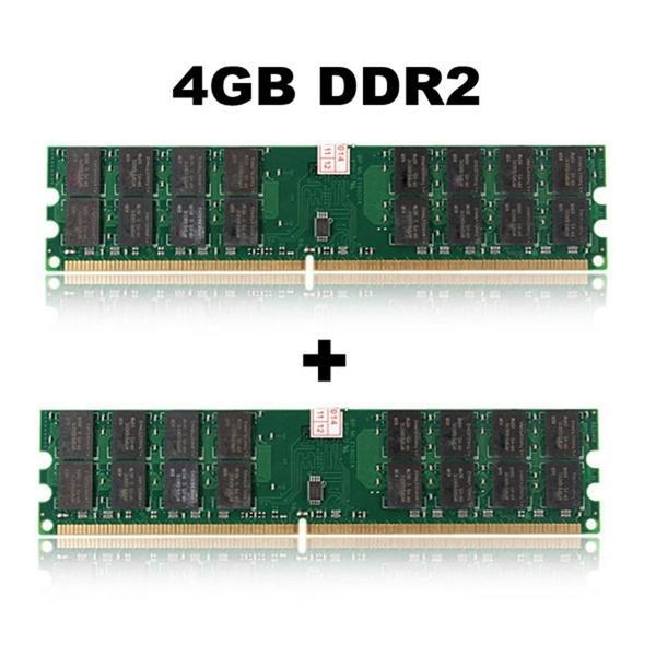 2 шт 4 ГБ DDR2 800 МГц PC2-6400 240 контактов настольных ПК DIMM памяти Ram AMD платы (размер: 4 ГБ) for 2gb 1x2gb pc2 6400 ddr2 800 450260 b21 460424 001 with 1 year warranty