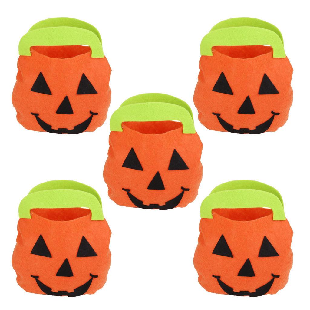 5 x мешок Хэллоуин тыква детей поручень улыбка тыквы мешок мешок конфет дети поиск семена тыква марсельеза