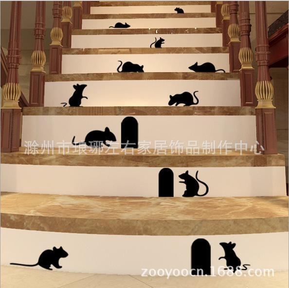 Крыса отверстие гостиная фон стены стикеры внешняя торговля Оптовая водонепроницаемый и может быт...