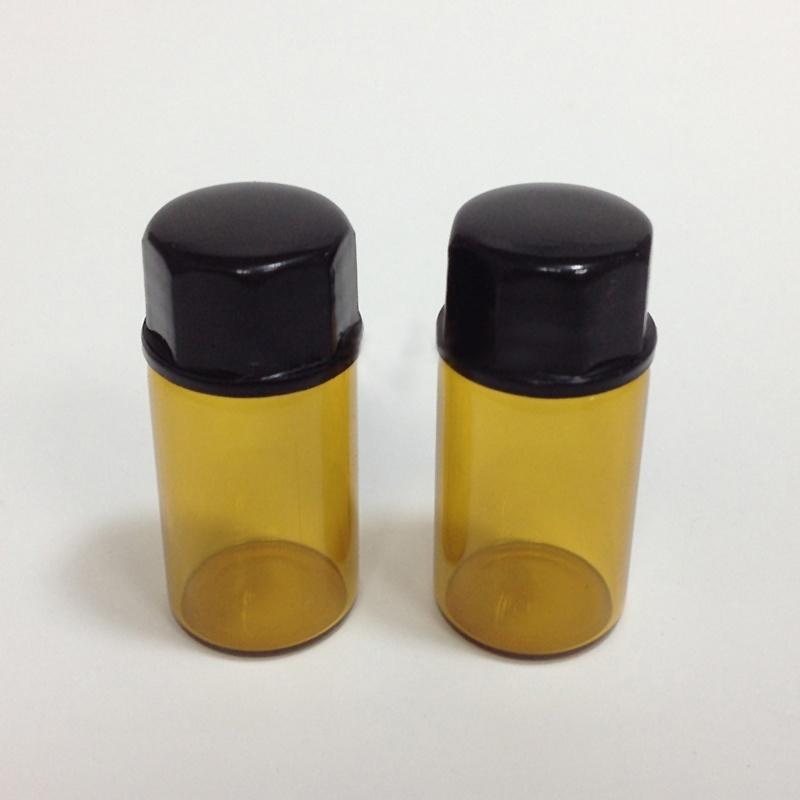 12 шт 2 мл Янтарный стекла эфирное масло бутылки отверстия редуктор & Кап itap 143 2 редуктор давления