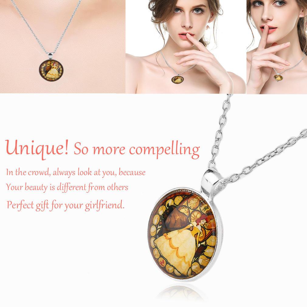 Красота и зверь цинк сплава Роуз ретро ожерелье для подарка