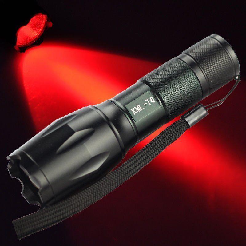 Зумирования CREE XML T6 светодиодный 18650 фонарик фокус факел лампы охота красный свет фонарик womo xm l t6 cree 5 2000 for3aaa 18650 xml t6