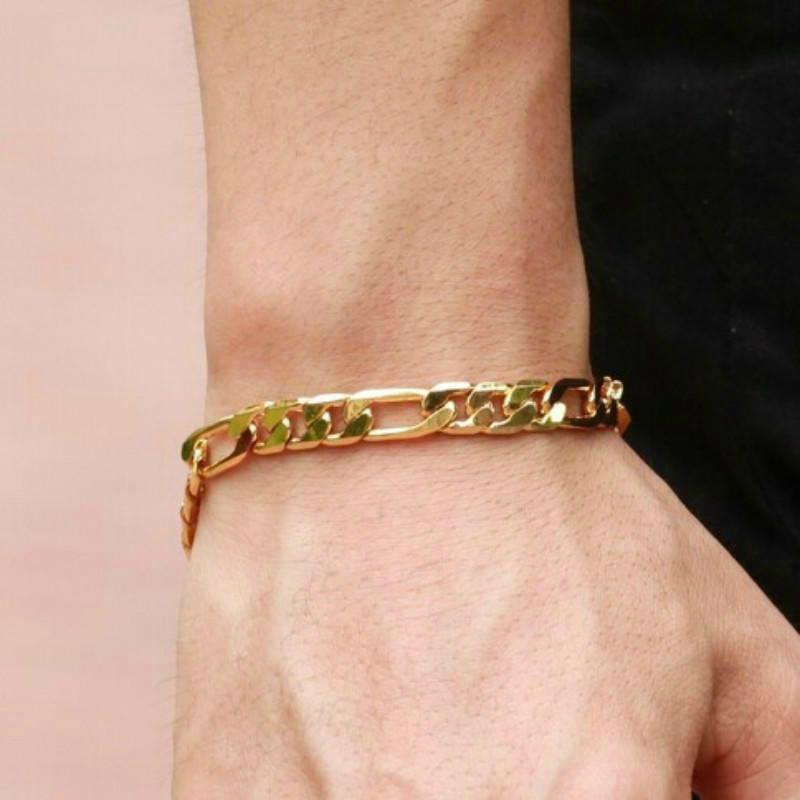 18K золото Персонализированные ювелирные изделия мужской браслет