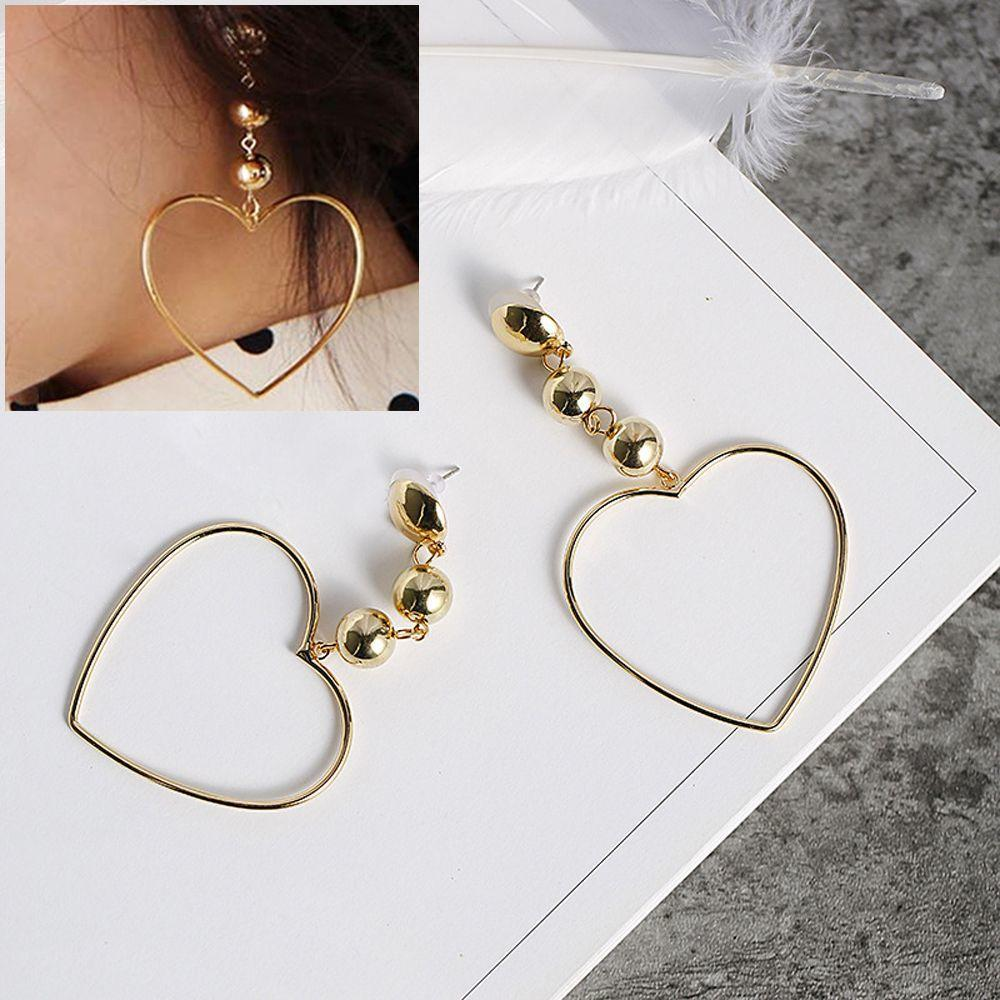 Ювелирные изделия золотой обруч круг уха шпильки сердце серьги на крючках