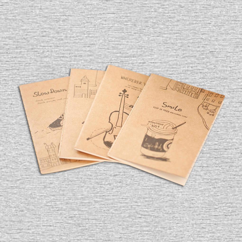 Ретро тетрадей студентов Симпатичные мягкие копию Канцелярие школьная ноутбук мини мультфильм копию медали1500 лет киеву