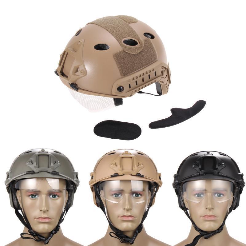 Airsoft тактической Быстрый шлем с защитные очки аксессуар очки защитные truper t 10813