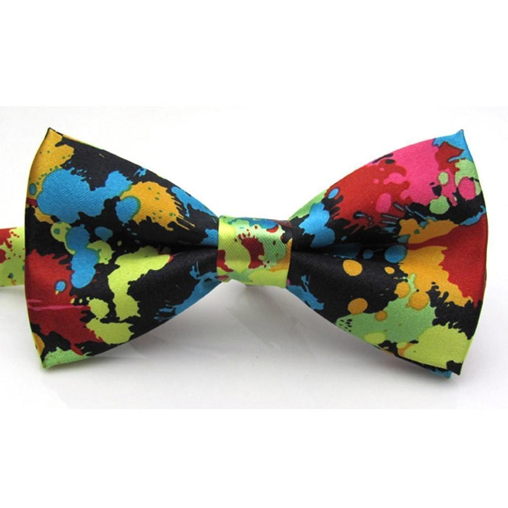 Регулируемые печатных галстук мужчин галстуки Свадебные галстук Banquet галстук бабочка предварит... галстуки