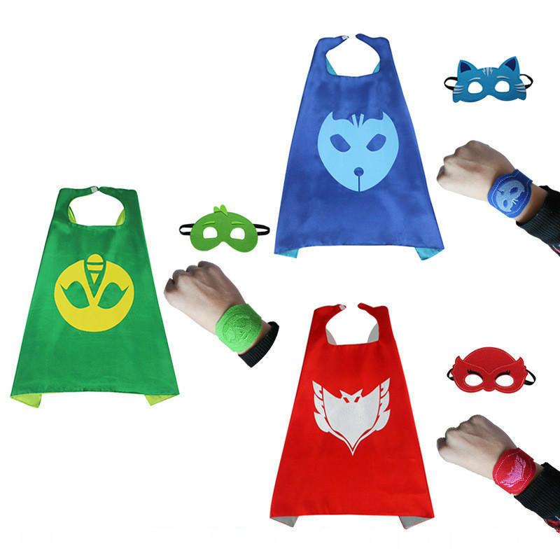 4Pcs/набор мультфильм маска герой плащ мыс и маска Owlette Catboy Gecko косплей действий игрушки ... плащ и маска штурмовик uni