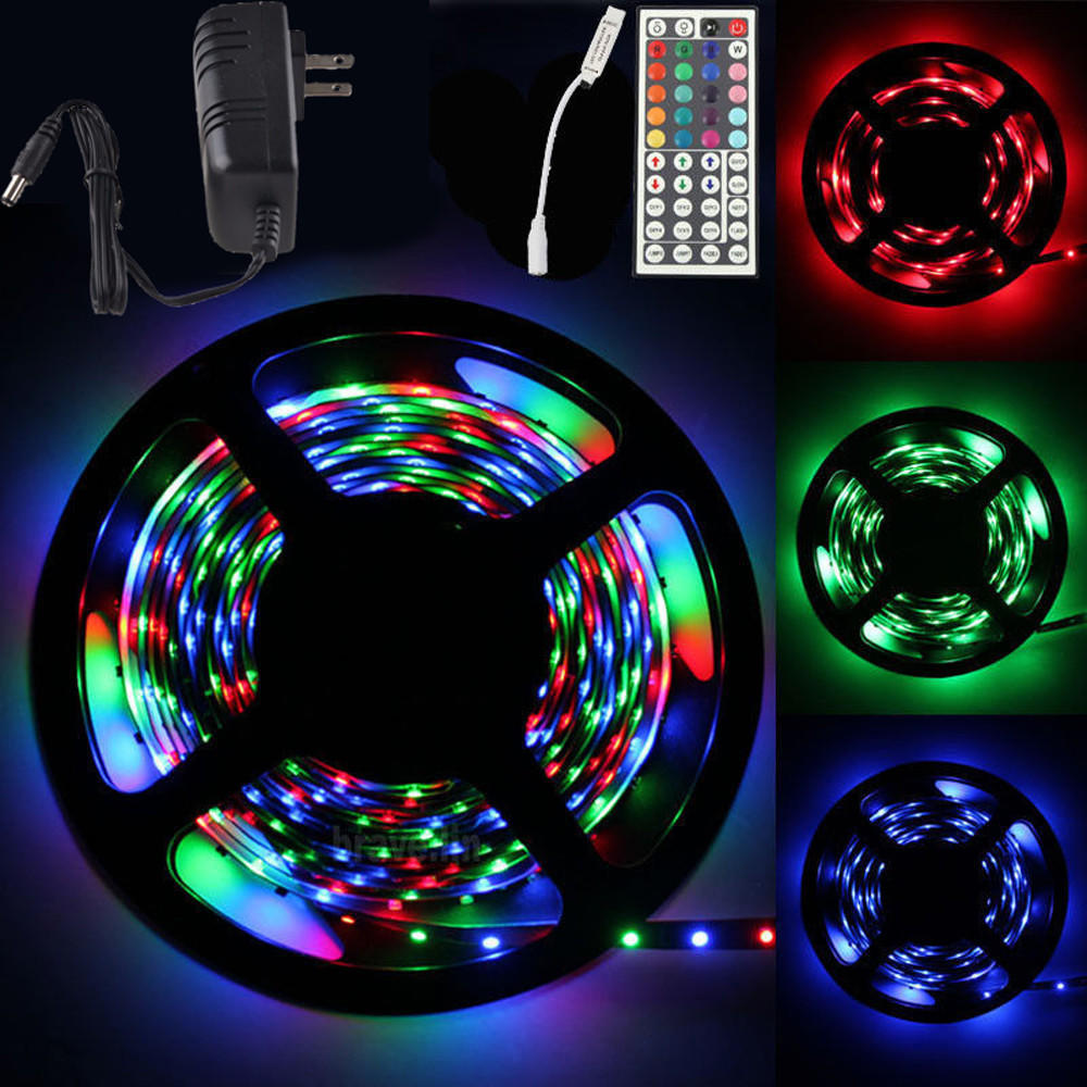 5m rgb 300 led smd flexible light strip lamp 44 key ir