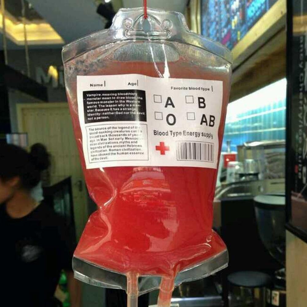 Creative Vampire Blood Energy Drinking Bag Fruit Juice Bag ...