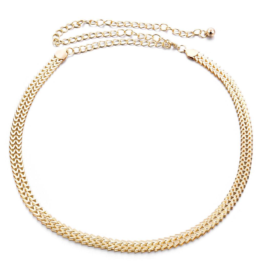 Женщины выдолбленные золотые пояса металла пояса талии цепочки пояса Амулеты