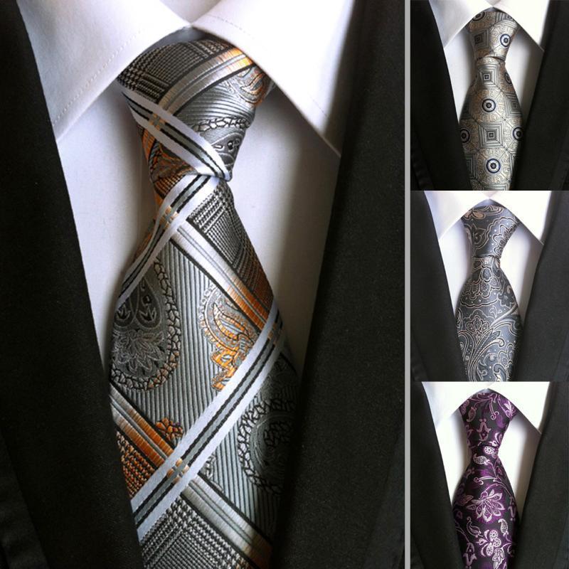 Мужской ЖАККАРДОВЫЙ ТКАНЫЙ галстук классические шелковые галстуки моды бизнес галстук галстуки