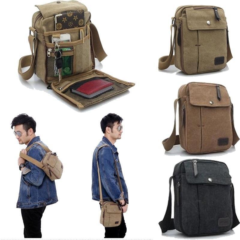 ВЫСОКОЕ качество холста новые мужские Messenger сумки случайные мужские многофункциональные путеш... мужские сумки
