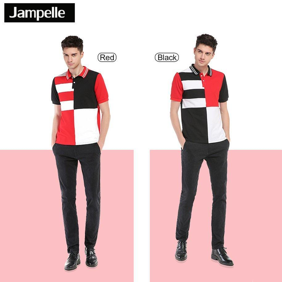 JAMPELLE европейских американской моды B64 мужчин рубашка поло полоса печатных мужчин рубашка bisley bcf 64 b64