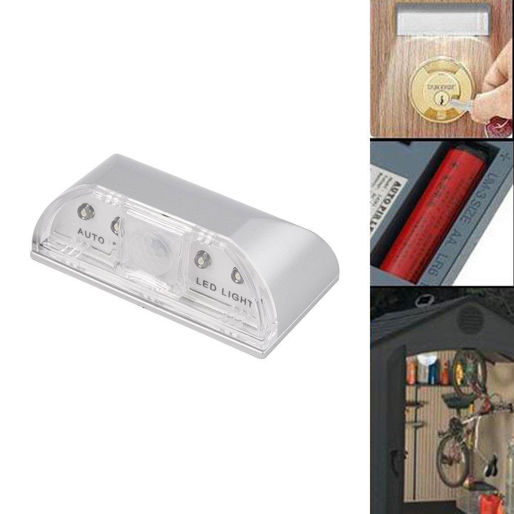 Обнаружение движения инфракрасные беспроводные Keyhole 4led ИК датчик света Auto Пир налобный фонарь sunree l40 ipx8 4led