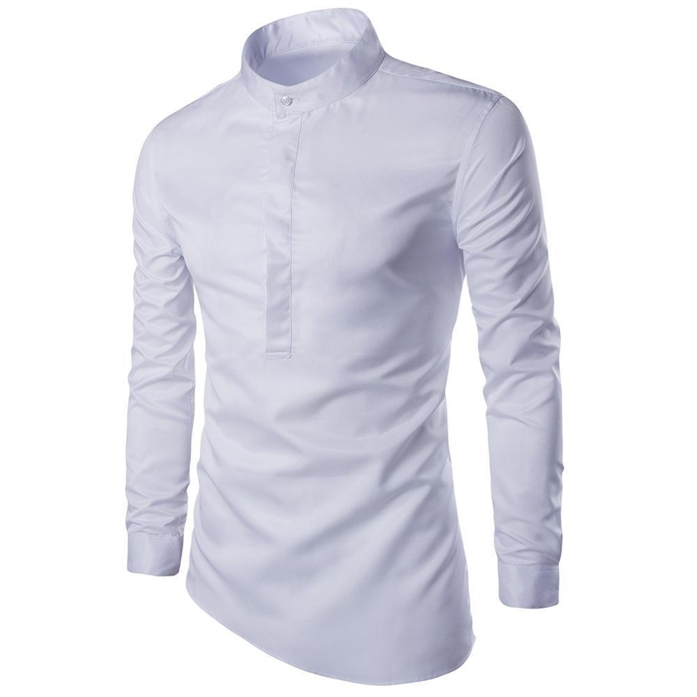 Новый дизайн мужской с длинным рукавом рубашки качества рубашки рубашки