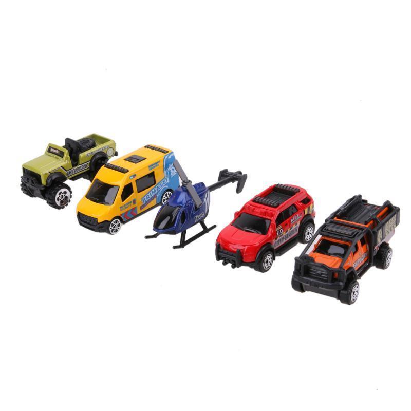 5pcs 1: 64 масштаба сплава автомобилей модели дети дети автомобилей игрушка подарочный набор тележка для транспортировки автомобилей сорокин 2т 9 64