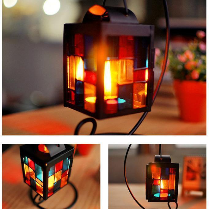 Марокканский стиль Рождественские свечи лампы железа подсвечников свечи керосинки газовые лампы