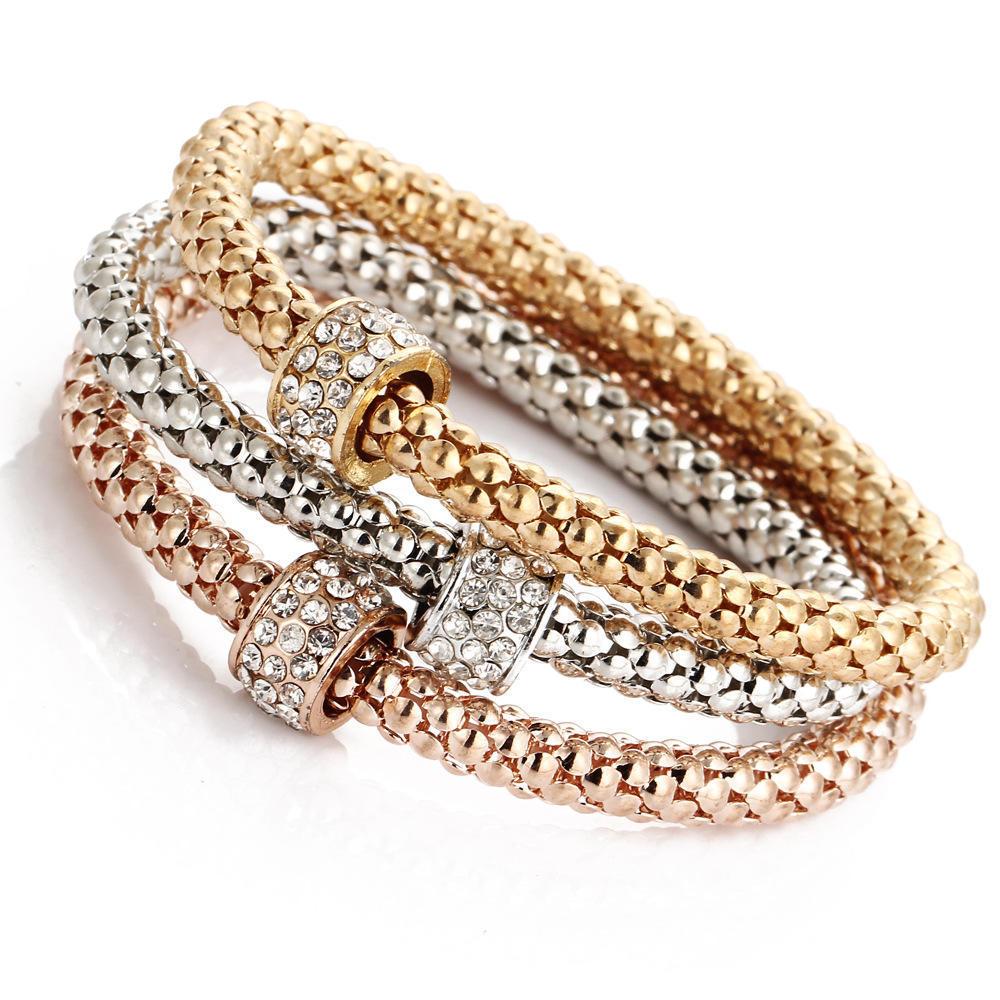 Полная Rhinestone хрустальный шар Shambala шарм браслеты для женщин золото/розовое золото/серебро...