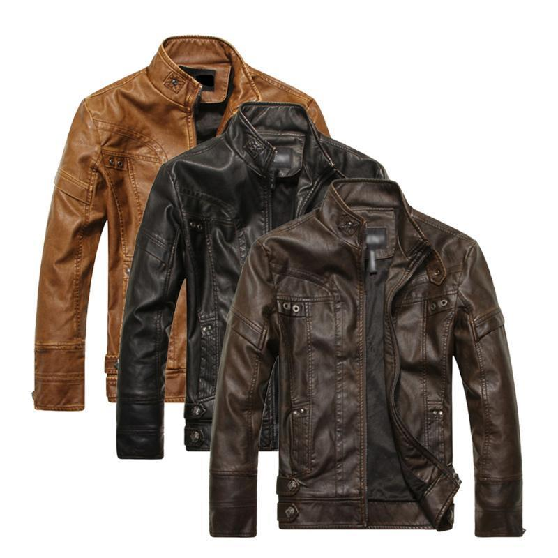 К 2015 году новых моды мужской кожаный мотоциклов пальто куртки Пальто кожаное пальто мужское кожаное в москве