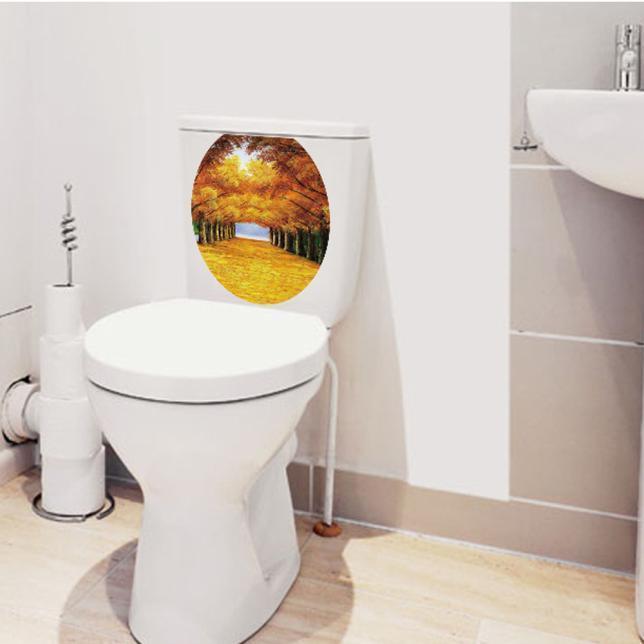 Новый туалет место стикер наклейки виниловые искусства обои съемных декор стен декор для стен