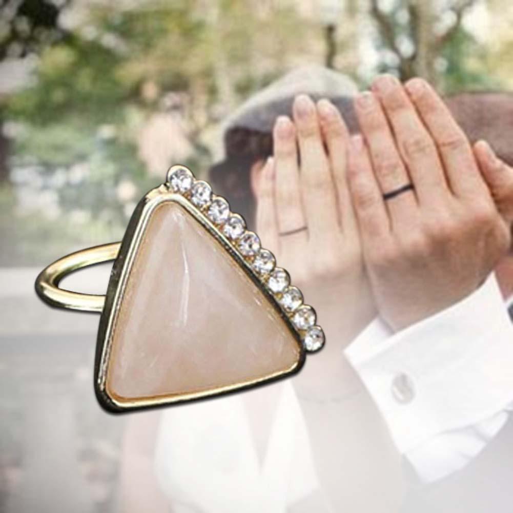 Кольца Cz Алмазный треугольник камень обручальные кольца для женщин обручальные кольца ювелирные ...