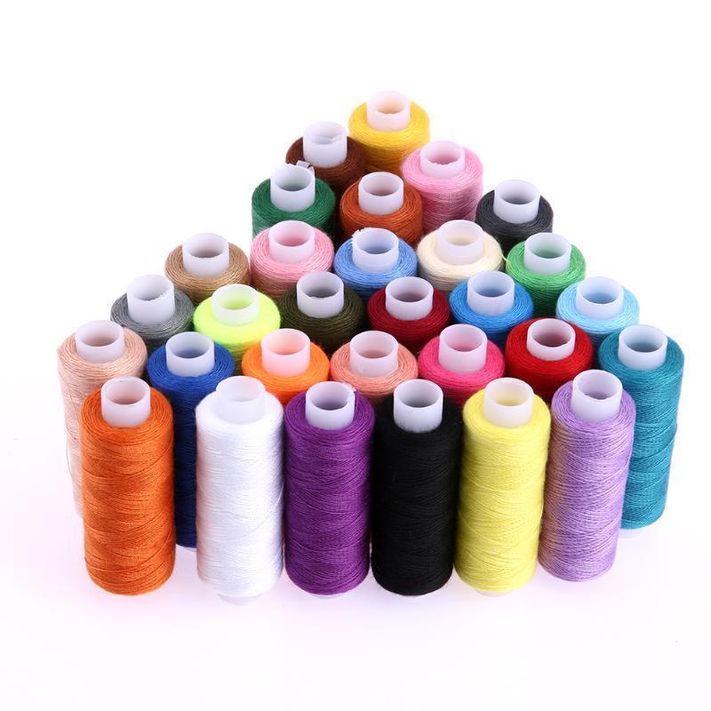 30 различных цветов 250 ярда полиэстер швейная машина Нитки вышивальные швейная машина vlk napoli 2400