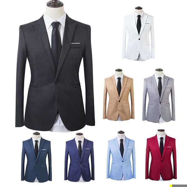 Maxnina мужской моды, корейский деловые костюмы, однобортный зубчатый тонкий длинный рукав костюмы костюмы