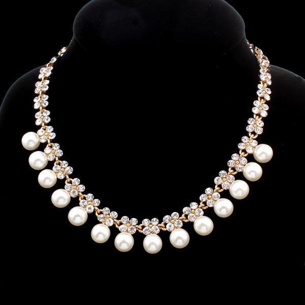 Колье золотые цепи повелительницы стразами кристалл Перл ставку заявление ожерелье