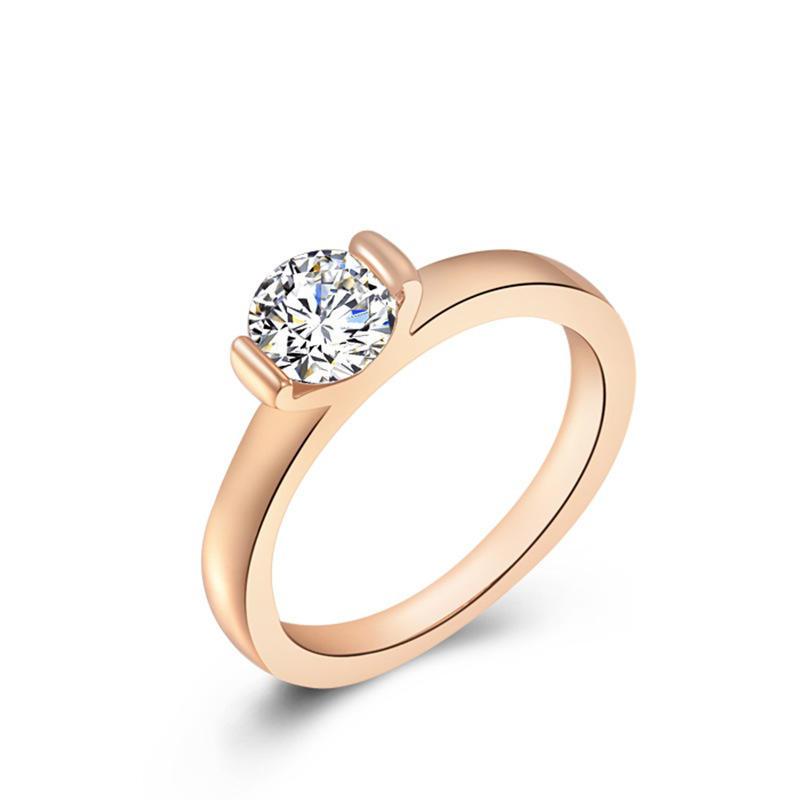 Циркон стрелки восемь сердце розовое золото Кольца