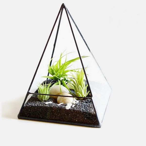 Нерегулярные вазоны контейнеры геометрические террариум Box настольная суккулентных растений план... уличные урны вазоны горшки