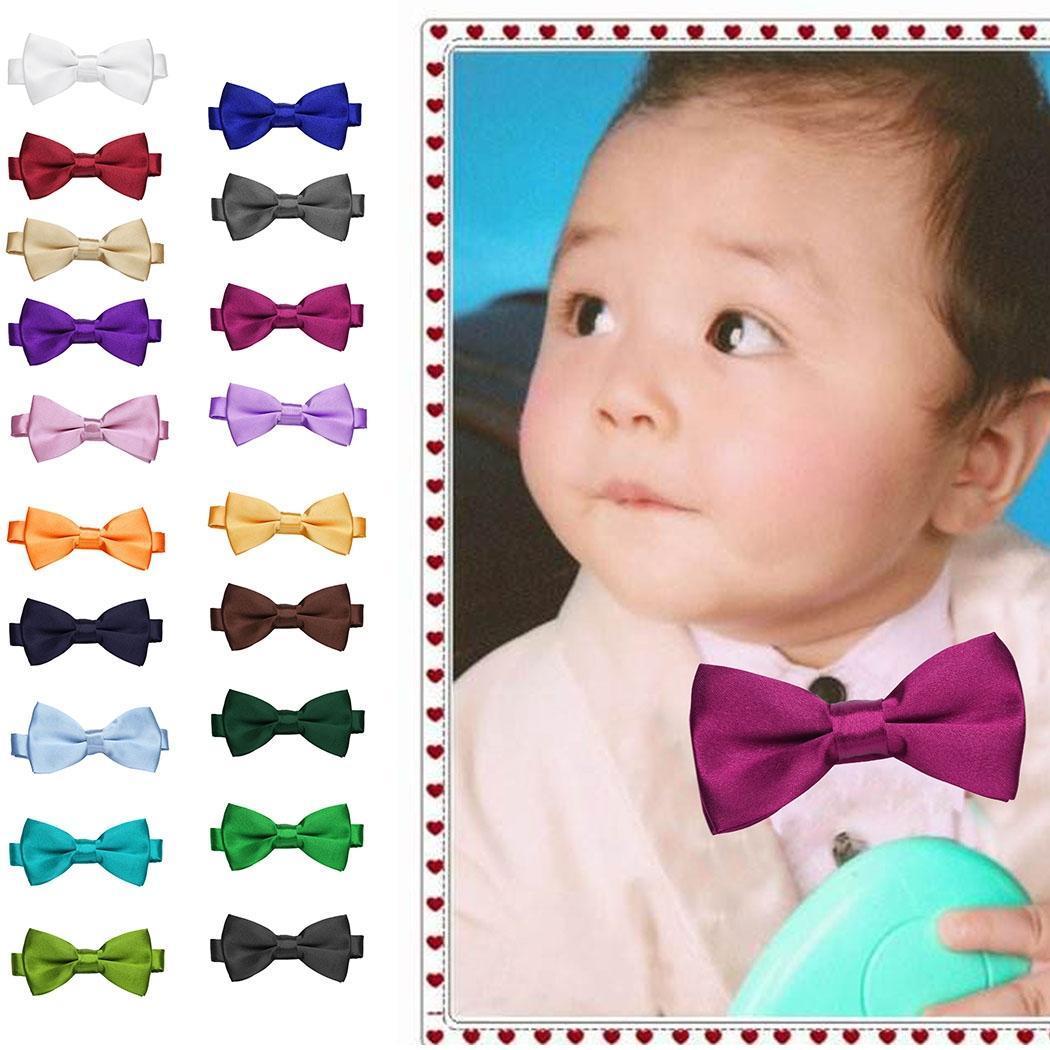 Новые дети детские милые твердых регулируемые галстуки одежда Аксессуары галстуки